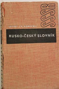 Rusko-český slovník obálka knihy