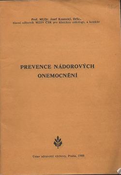 Prevence nádorových onemocnění obálka knihy