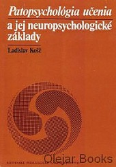 Patopsychológia učenia a jej neuropsychologické základy obálka knihy
