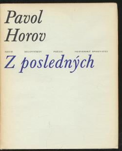 Z posledných obálka knihy