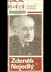 Zdeněk Nejedlý obálka knihy