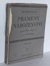 Prameny náboženství v pojetí Henri Bergsona a ve světle ethnologie obálka knihy
