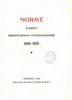 Moravě obálka knihy