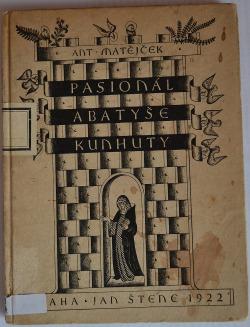 Pasionál abatyše Kunhuty obálka knihy