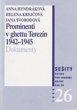 Prominenti v ghettu Terezín 1942-1945 obálka knihy