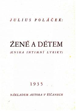 Ženě a dětem - kniha intimní lyriky