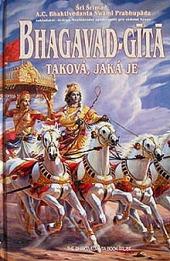 Bhagavad-gītā taková, jaká je obálka knihy