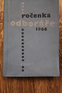 Ročenka odboráře 1966 obálka knihy