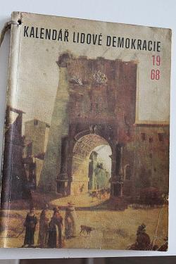 Kalendář lidové demokracie 1968 obálka knihy