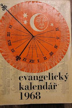 Evangelický kalendář 1968 obálka knihy
