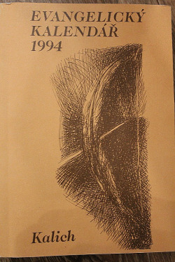 Evangelický kalendář 1994 obálka knihy