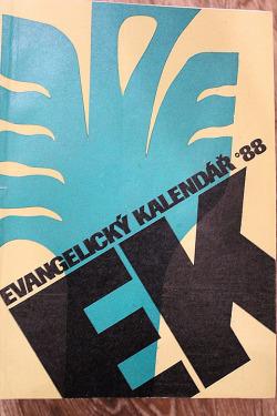 Evangelický kalendář 1988 obálka knihy