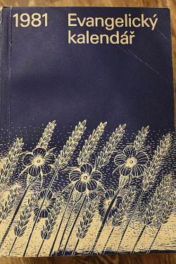 Evangelický kalendář 1981 obálka knihy