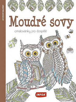 Moudré sovy - Omalovánky pro dospělé obálka knihy