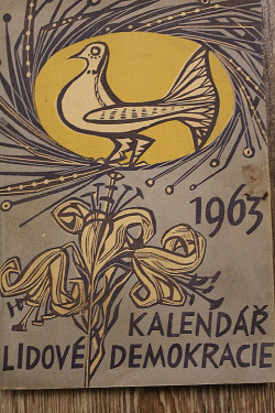 Kalendář Lidové demokracie 1963 obálka knihy