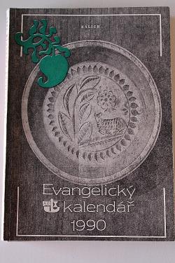 Evangelický kalendář 1990 obálka knihy
