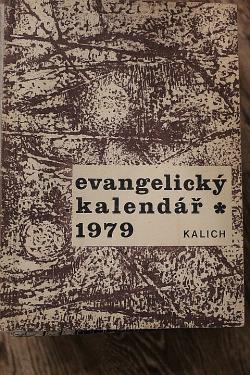 Evangelický kalendář 1979 obálka knihy