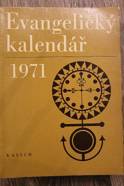 Evangelický kalendář 1971 obálka knihy