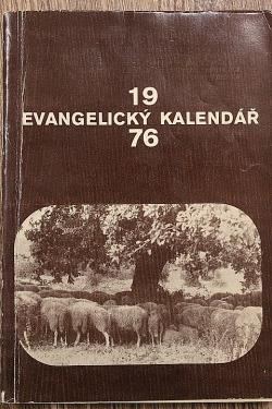 Evangelický kalendář 1976 obálka knihy