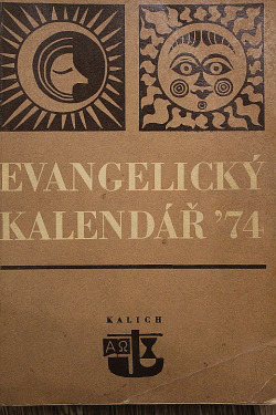 Evangelický kalendář 1974 obálka knihy