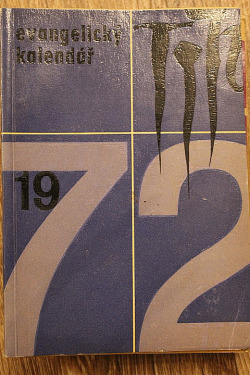 Evangelický kalendář 1972 obálka knihy
