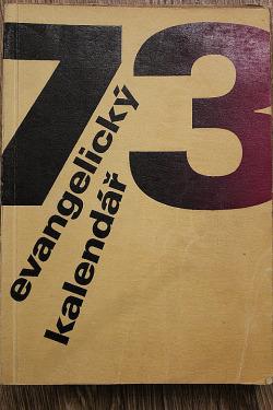 Evangelický kalendář 1973 obálka knihy