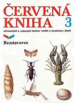 Červená kniha ohrozených a vzácnych druhov rastlín a živočíchov ČSFR 3 - Bezstavovce obálka knihy