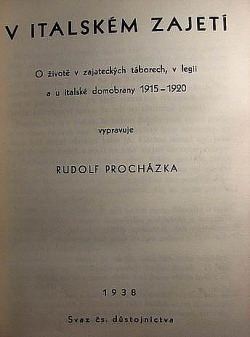 V italském zajetí obálka knihy
