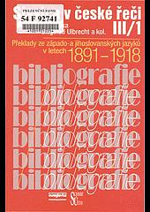 Slavica v české řeči III/1 obálka knihy