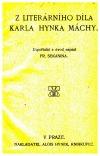 Z literárního díla Karla Hynka Máchy