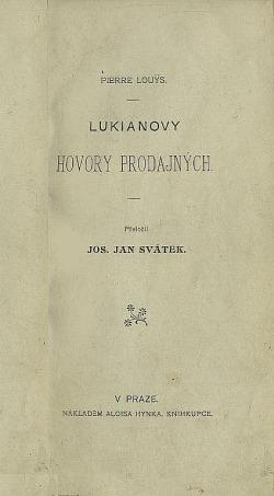 Lukianovy hovory prodajných obálka knihy