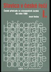 Slavica v české řeči I. obálka knihy