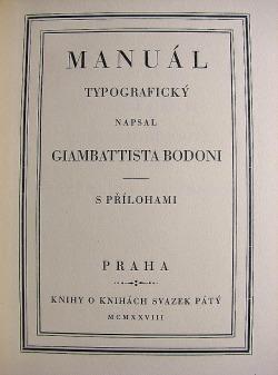 Manuál typografický obálka knihy