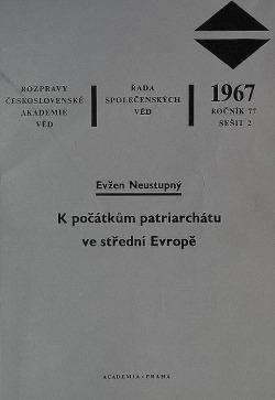 K počátkům patriarchátu ve střední Evropě obálka knihy