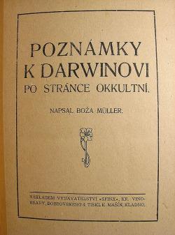 Poznámky k Darwinovi po stránce okkultní obálka knihy
