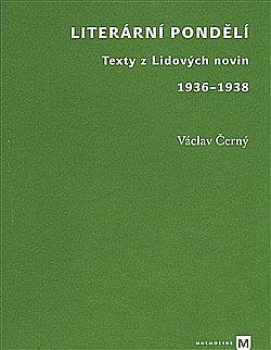 Literární pondělí - Texty z Lidových novin 1936-1938 obálka knihy