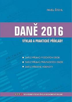 Daně - výklad a praktické příklady 2016 obálka knihy
