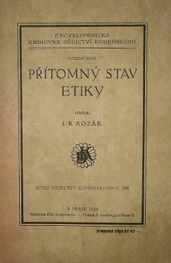 Přítomný stav etiky obálka knihy