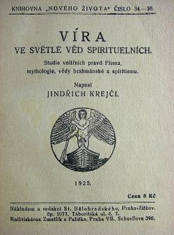 Víra ve světle věd spirituelních obálka knihy