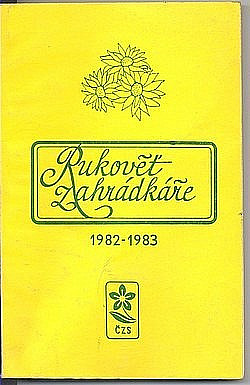 Rukověť zahrádkáře 1982-1983 obálka knihy
