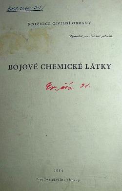 Bojové chemické látky obálka knihy
