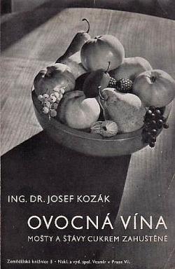 Ovocná vína - mošty a šťávy cukrem zahuštěné obálka knihy