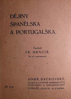 Dějiny Španělska a Portugalska obálka knihy