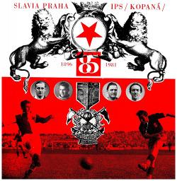 Slavia Praha IPS kopaná 1896 - 1981 obálka knihy