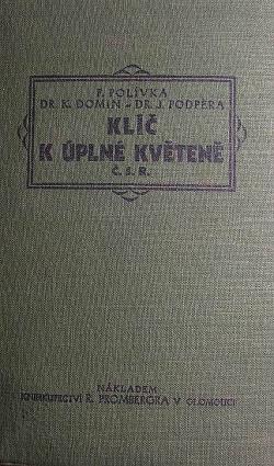 Klíč k úplné květeně republiky Československé obálka knihy
