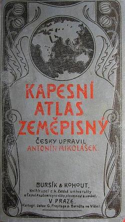 Kapesní atlas zeměpisný obálka knihy