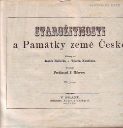 Starožitnosti a Památky země České obálka knihy