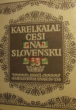 Češi na Slovensku obálka knihy