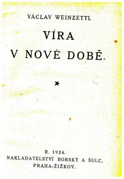 Víra v nové době obálka knihy