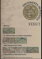 Documenta Pragensia XXXII/2 obálka knihy